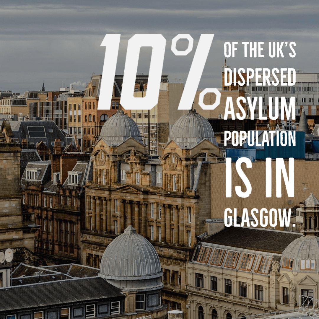 Dispersed asylum seekers in Glasgow